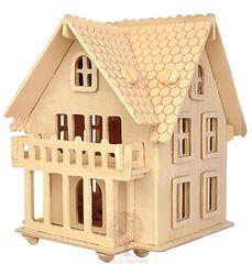 Сборная деревянная модель ЗАГОРОДНЫЙ ДОМ PH062 47 деталей