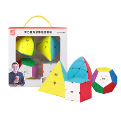 Подарочный набор кубик QiYi 4 в 1 комплекте 2x2 3x3 4x4 5x5