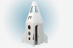 Домик из картона Ракета на Марс (белая)