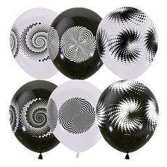 """№054 """"Иллюзия"""" 4-сторонний рисунок (шёлк). С гелием. 30 см."""