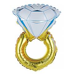 №006 Фигура с гелием. Кольцо с бриллиантом. 97 см*38 см.