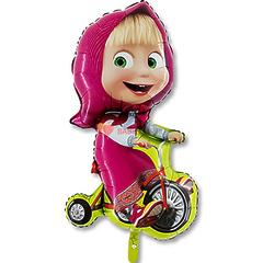 №115 Фигура с гелием. Маша на велосипеде. 98 см*40 см.
