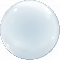 №03 Прозрачный пластиковый Шар Сфера Deco Bubbles с перьями, конфетти и др., наполненный гелием 40 см.