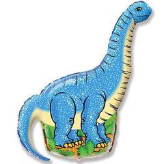 №140 Фигура с гелием. Динозавр Диплодок. 110 см*60 см.