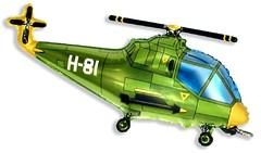 №199 Фигура с гелием. Вертолёт зелёный. 96 см*57 см.