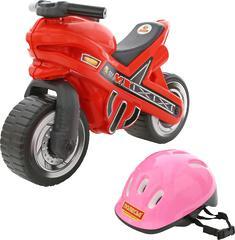 """Каталка-мотоцикл """"МХ"""" со шлемом"""