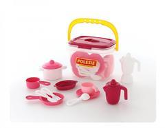 Набор детской посуды на 4 персоны (29 элементов) (в ведёрке)