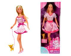 Кукла Штеффи с собачкой и сумочкой , 29 см