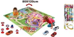 Игровой набор коврик с машинками Замок 019-28P