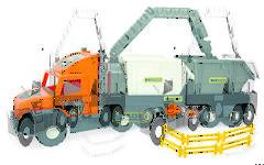 Тягач Super Tech Truck Wader со строительными контейнерами