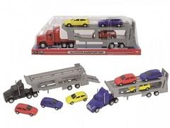 Автовоз с тремя легковыми машинками, 32 см