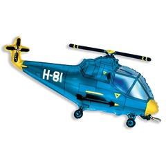 №198 Фигура гелиевая. Вертолёт синий. 96 см*57 см.