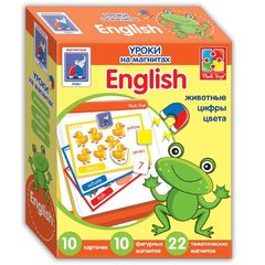 Настольная развивающая игра Английский язык на магнитах «Животные» Влади Тойс