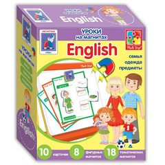 Настольная развивающая игра Английский язык на магнитах «Семья» Влади Тойс