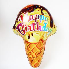 """№005 Фигура с гелием. Мороженое """"Happy Birthday"""". 65 см*45 см."""