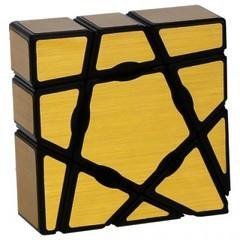 YJ 3x3x1 Ghost Mirror blocks золотой (Кубик Рубика ВайДжей 3х3х1 Гост Миррор блокс)