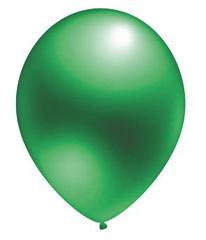 №219  Металлик. Зелёный. С гелием. 30 см.